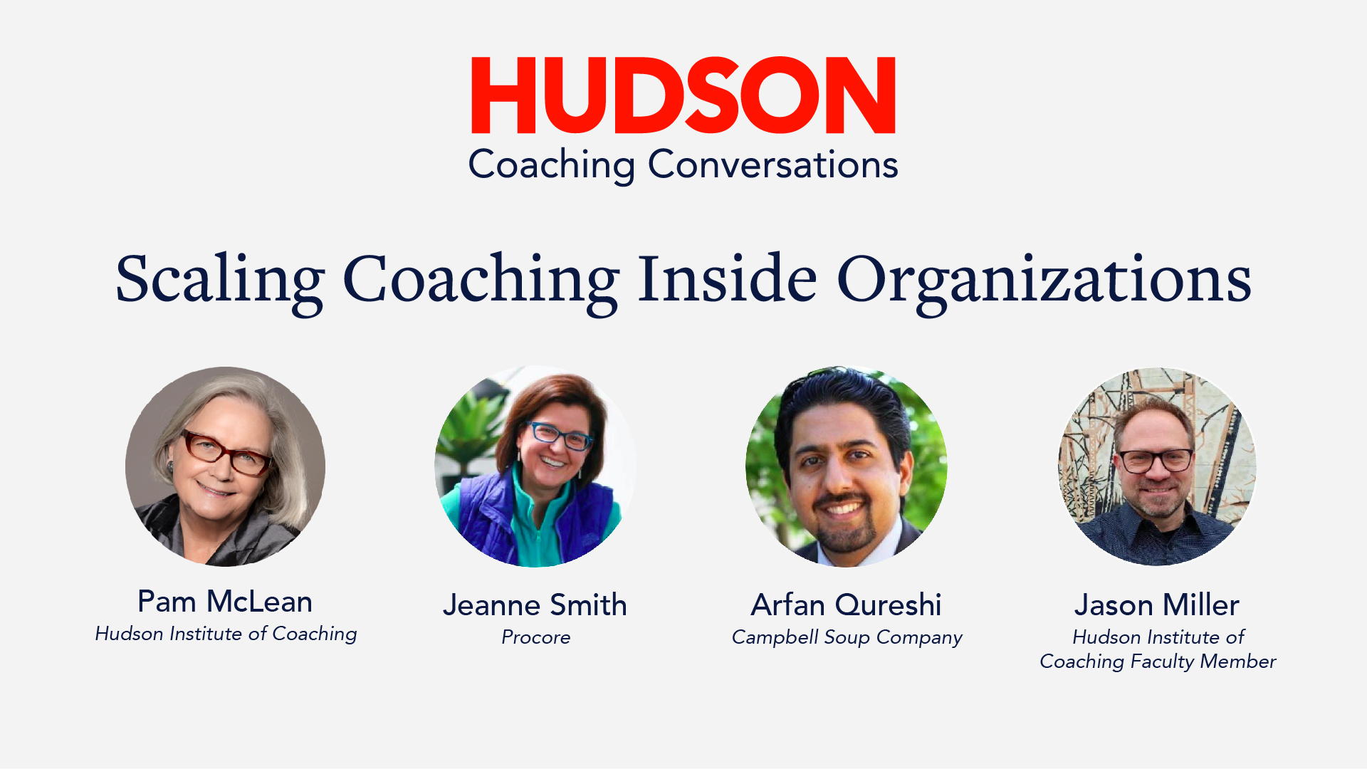 [Video] Hudson Coaching Conversations: Scaling Coaching in Organizations
