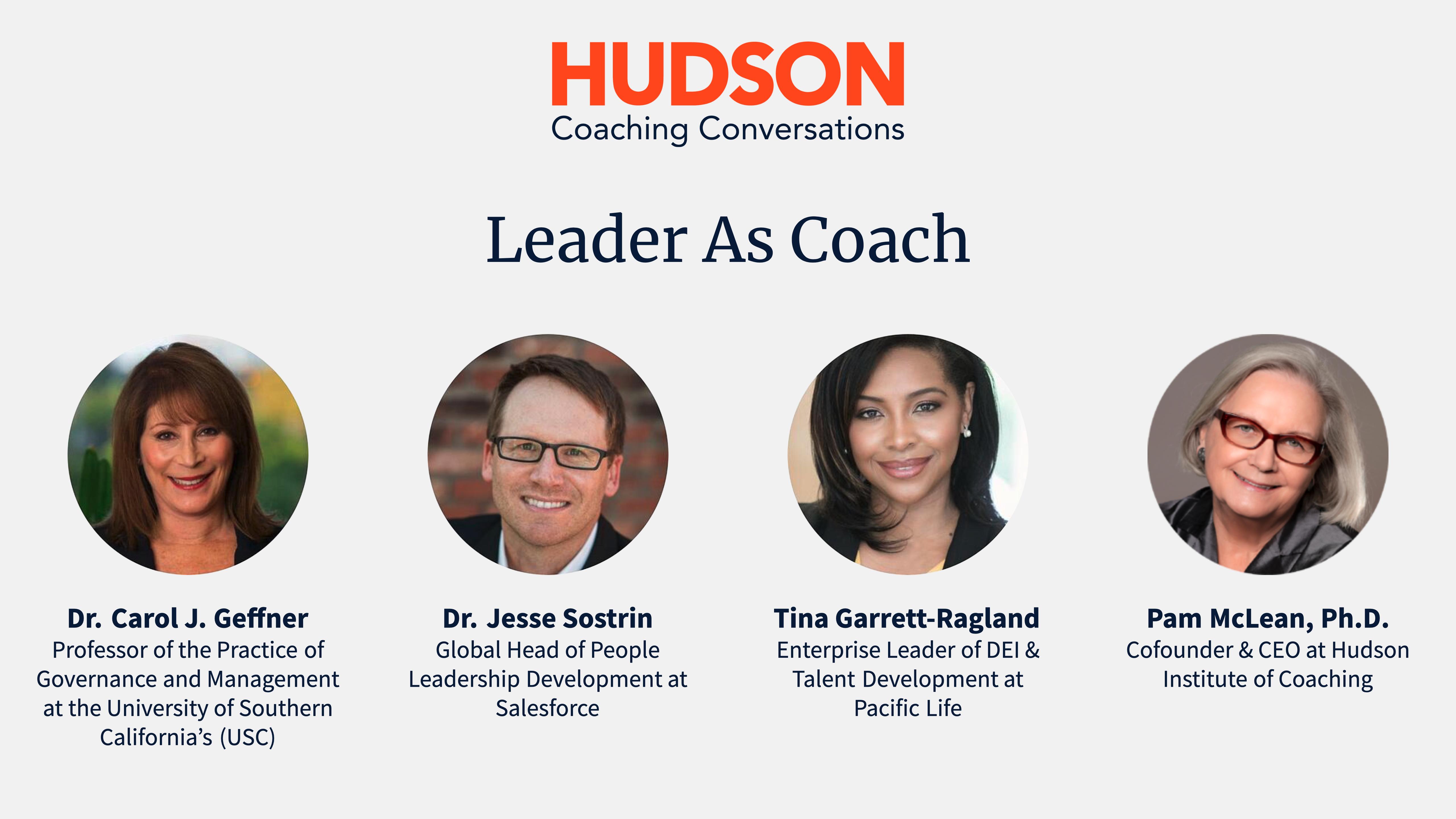 [Video] Hudson Coaching Conversations: Leader As Coach